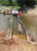 bridge over the rio vaqueti bolivia